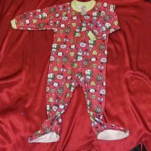 Gerber One Pieces - 🎄3/$10 X-mas Gerber toddler zip-up pajamas sz 24m